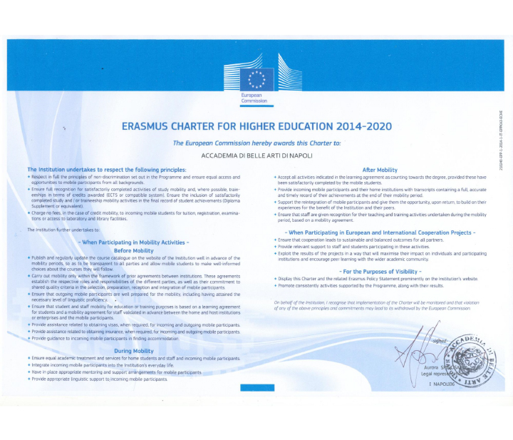 erasmus charter for higher education 2014-2020.